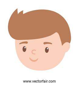 boy face character cartoon isolated design white background