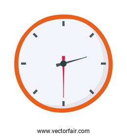 clock time hour isolated design white background