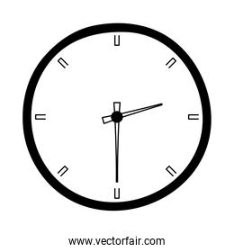 clock time hour isolated design white background line style