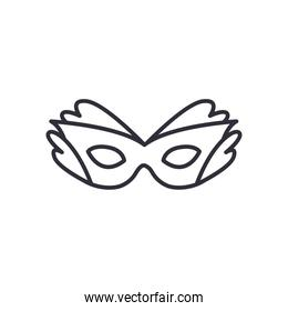 party mask line style icon vector design