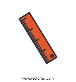 ruler line and fill style icon vector design