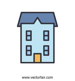 house line and fill style icon vector design