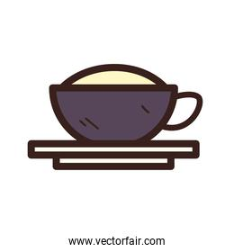 coffee cup line and fill style icon vector design