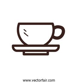 coffee cup line style icon vector design