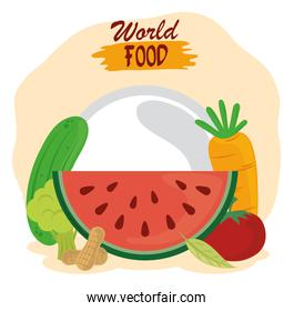 world food day, healthy lifestyle fresh fruits vegetables and nuts