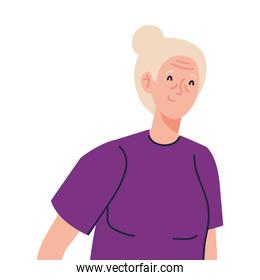 Senior woman cartoon vector design