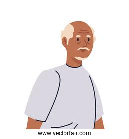 Senior man cartoon vector design