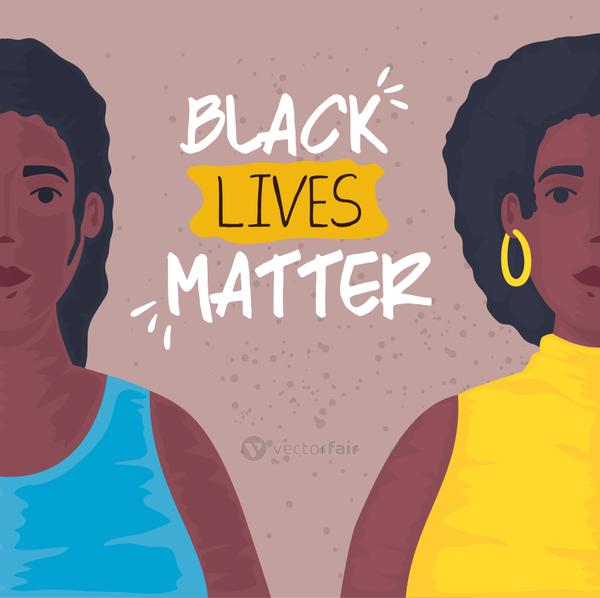 black lives matter, young women african, stop racism