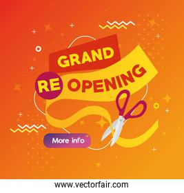 grand reopening online with scissor