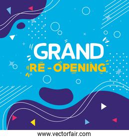 grand reopening banner with decoration