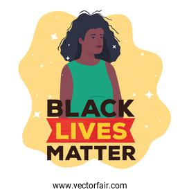 black lives matter, woman african, stop racism concept