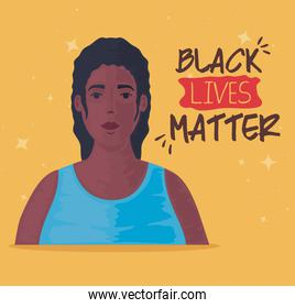 black lives matter, young woman african, stop racism concept