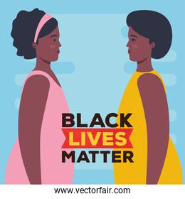 black lives matter, profile women african, stop racism