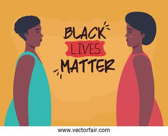 black lives matter, profile women african, stop racism concept
