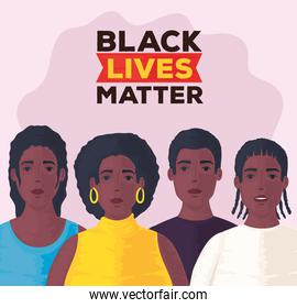 black lives matter, group of people african together, stop racism