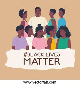 black lives matter, people african together, stop racism