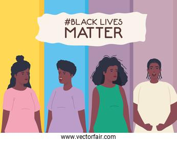 black lives matter, women and man african, stop racism