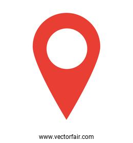 gps navigation location pointer flat icon style