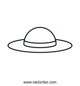 female hat accessory linear icon style white background
