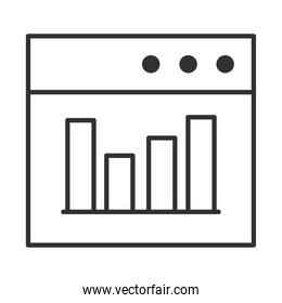 data analysis, website diagram finance optimization line icon