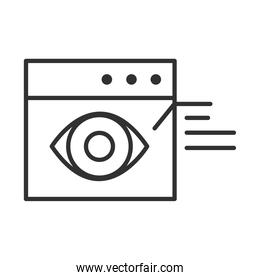 data analysis, financial business web site observation report line icon