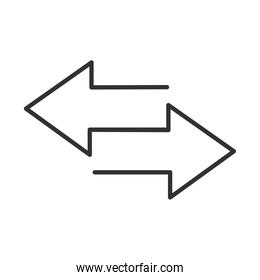 arrows different direction guide line icon