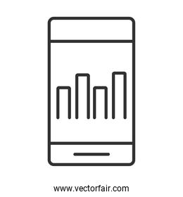 data analysis, smartphone digital chart business strategy and investment line icon