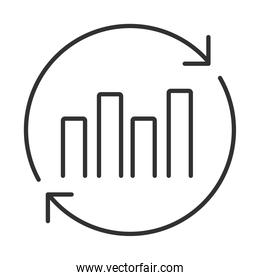 data analysis, financial business report economy financial chart line icon