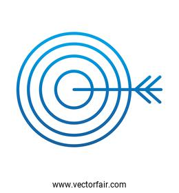 data analysis, financial business target strategy, gradient blue line icon