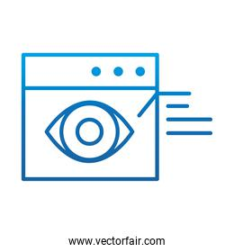 data analysis, financial business web site observation report, gradient blue line icon
