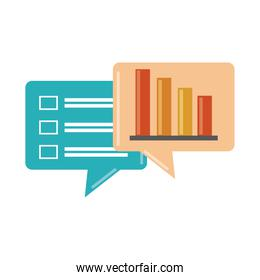 data analysis, financial business report stock diagram list information flat icon
