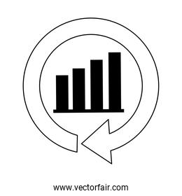 financial business report economy financial chart line icon