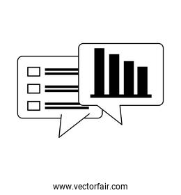 data analysis, financial business report stock diagram list information line icon