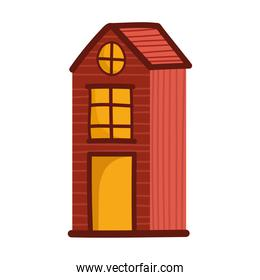 cottage rural architecture cartoon isolated design white background