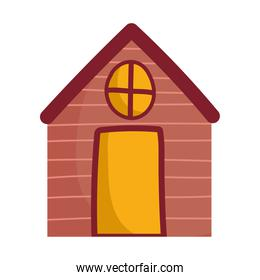 cottage cartoon countryside architecture isolated design white background