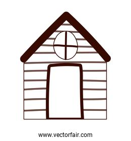 cottage cartoon countryside architecture isolated design white background line style