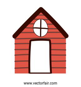 cottage cartoon countryside architecture isolated design white background line and fill style