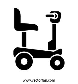 icon of Wheelchair for disabled person, silhouette style