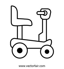 icon of Wheelchair for disabled person, line style