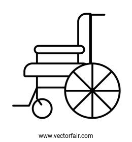 disability concept, wheelchair icon, line style