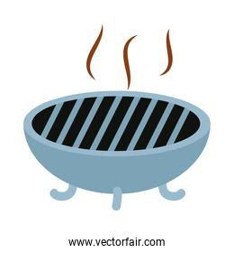 bbq grill icon, flat style