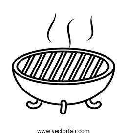 bbq grill icon, line style