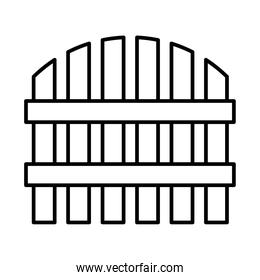 wooden fence icon, line style