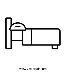 bed icon image, line style