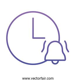 clock with alarm bell icon, gradient style