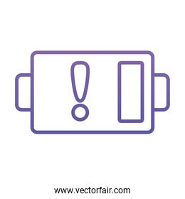 low battery symbol icon, gradient style