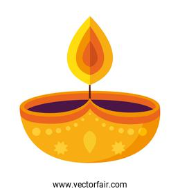 diwali candle icon vector design
