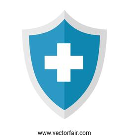Medical cross shield vector design