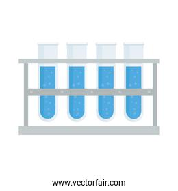 laboratory tubes icons vector design