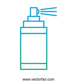 manifestation spray bottle degraded style icon vector design